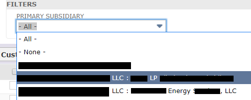RE: Generate Statement  to filter by one subsidiary