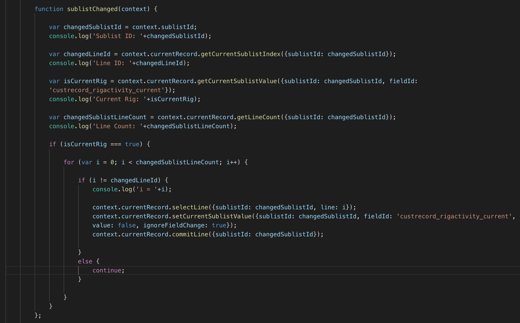 RE: How to Set a Sublist Value in a Client Script