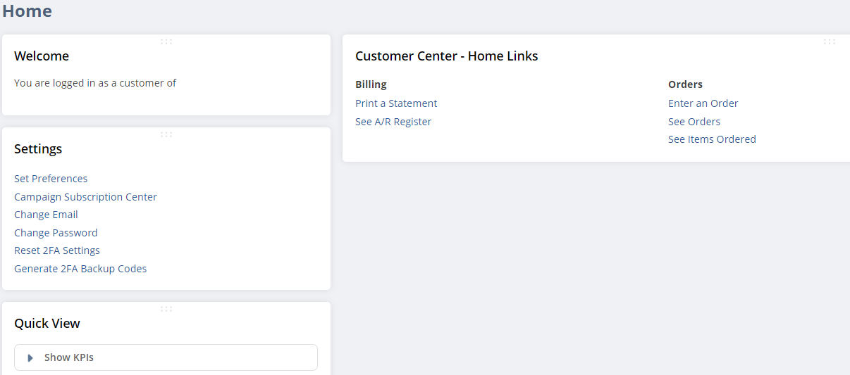 RE: How to change the Home Dashboard in Customer Center