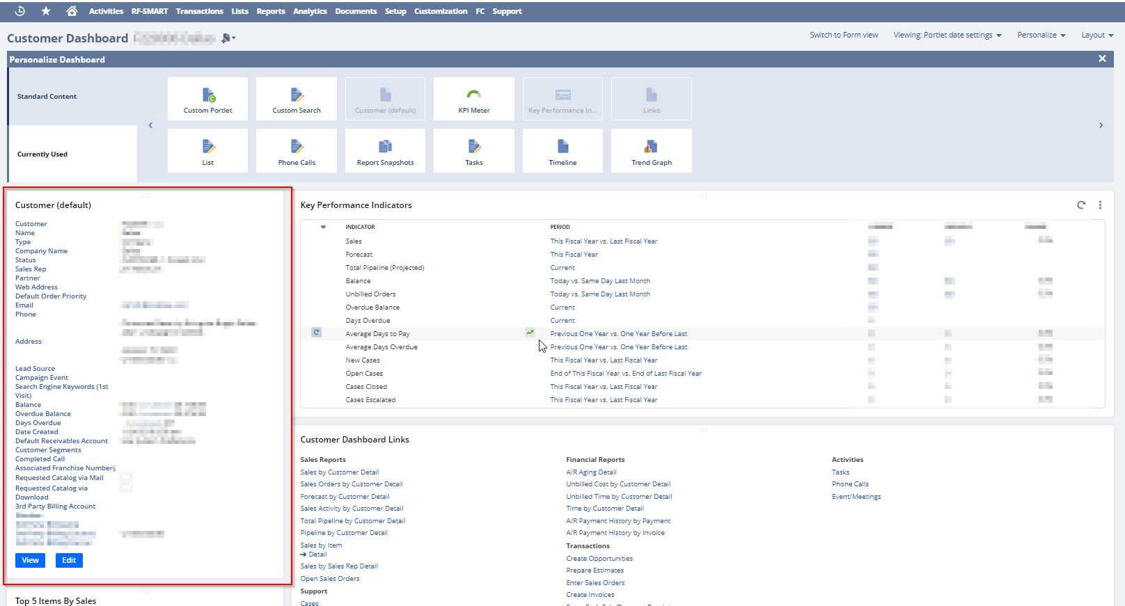 How to add fields to the Customer(default) portlet for the Customer Dashboard?