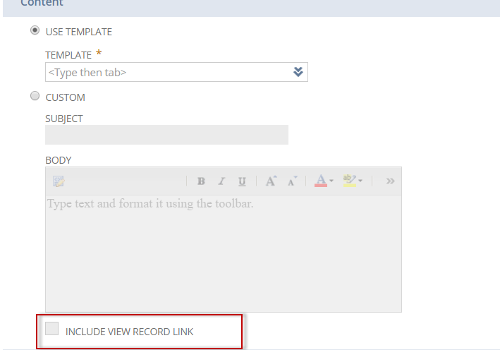 How to get the link to transaction in email template