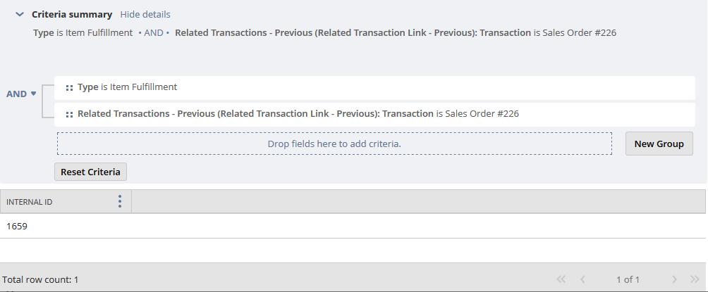 RE: Pull itemFulfillment using SalesOrder information