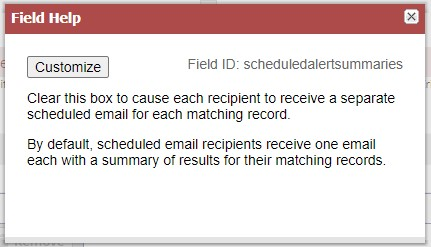 RE: Scheduled Saved Search Sending Separate Emails