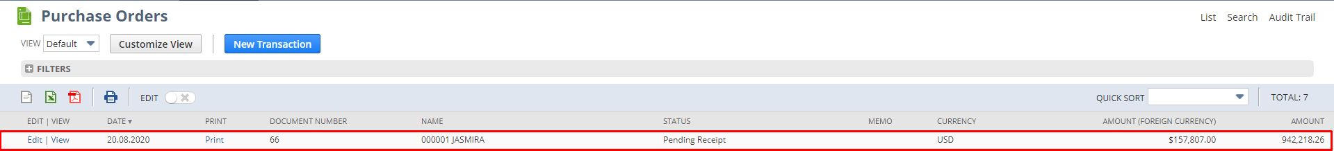How to create sales order from existing purchase order in netsuite