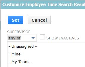 RE: Customize Time by Employee report