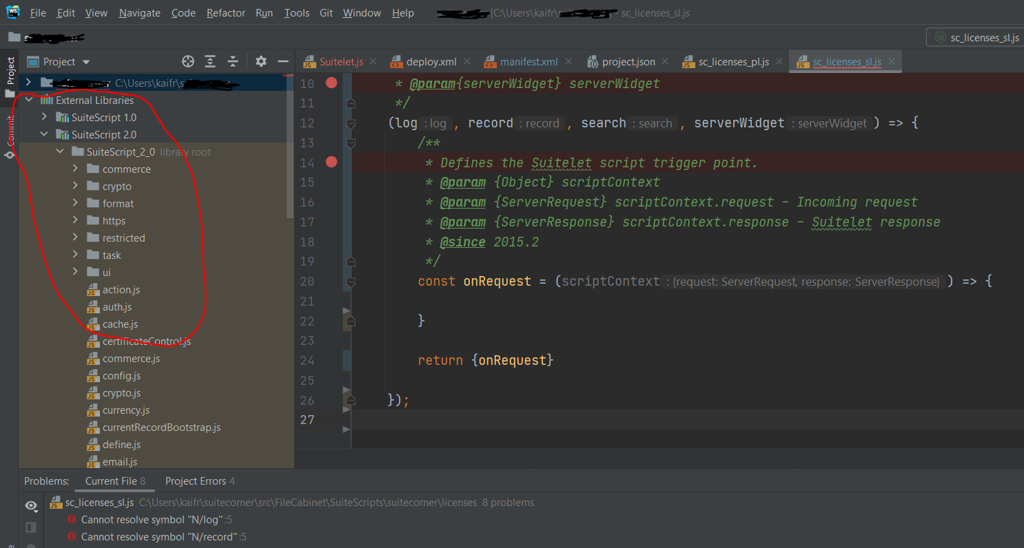 RE: How to debug a Suitelet in WebStorm