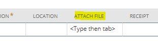 Make expense line attachment mandatory using script