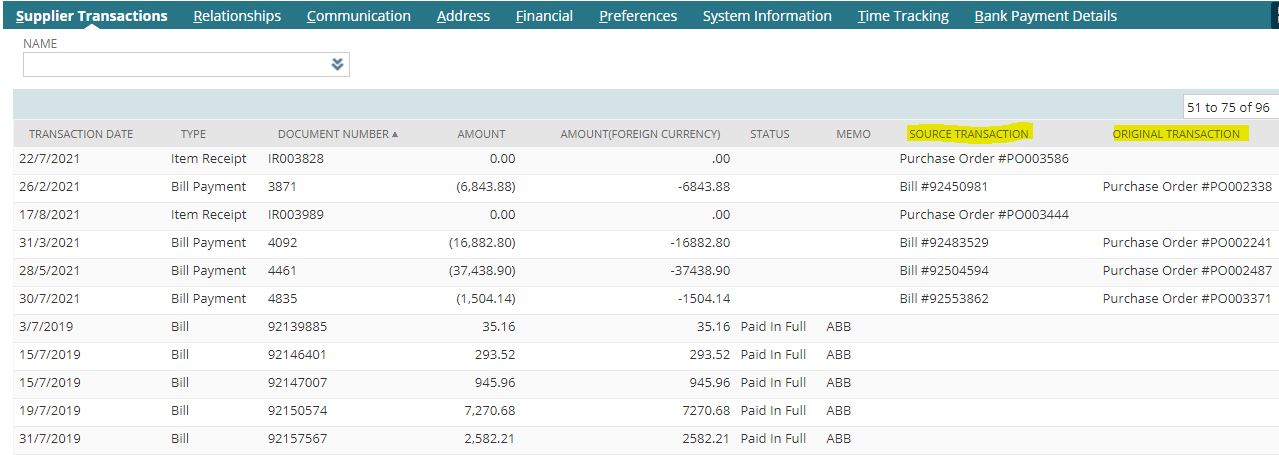 Download Supplier Transactions