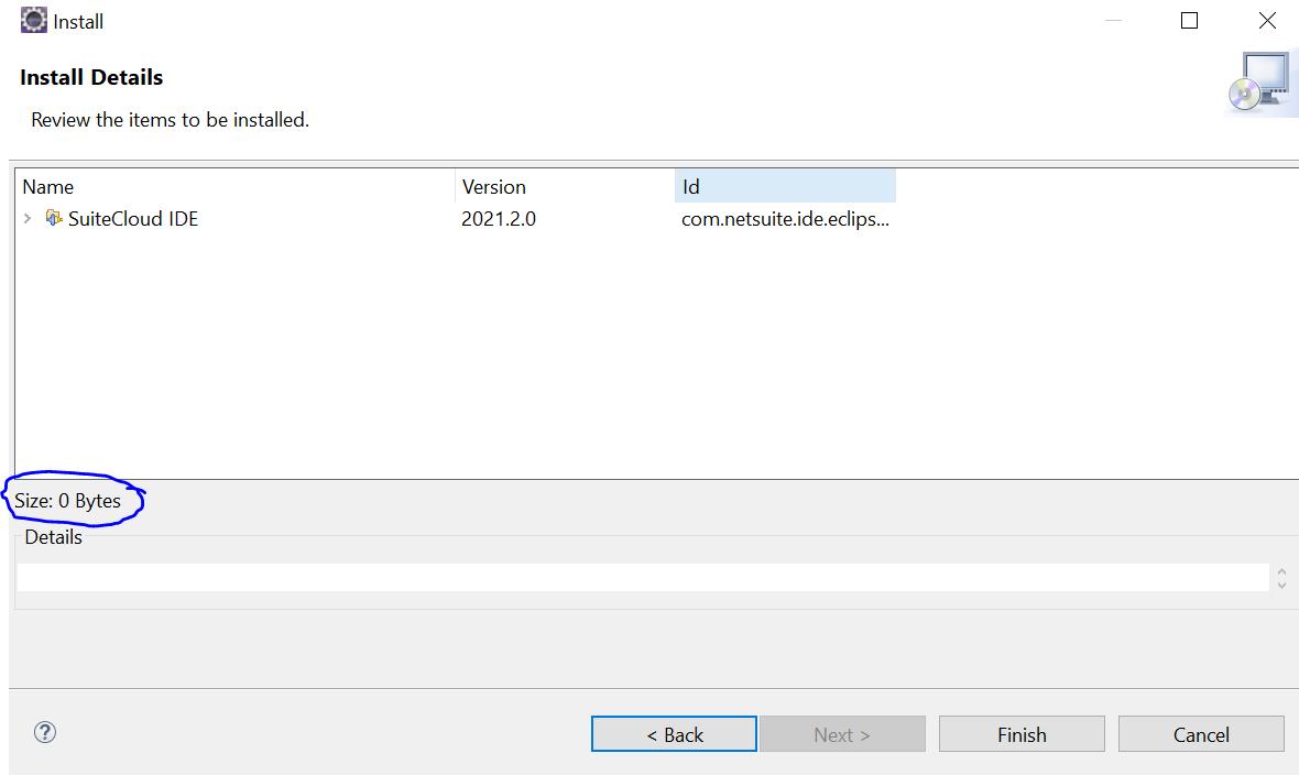 SuiteCloud IDE installation in eclipse